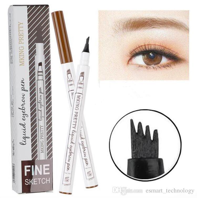 In Stock Liquid Eyebrow Pen Waterproof Eye Brow Pencil 4 Head