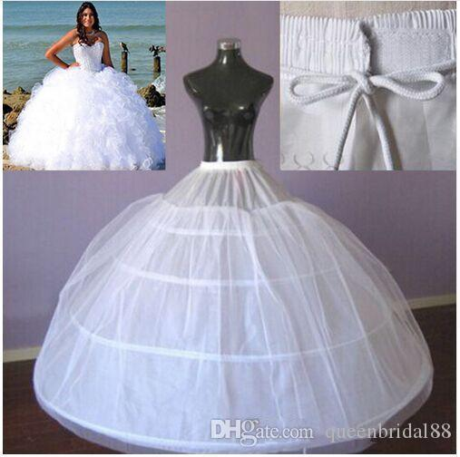 Hot Sale 4 Hoops Ball Gown Petticoat for Bride Wedding Dress Large Underdress Maxi Plus Size Underskirt High Quality Slip
