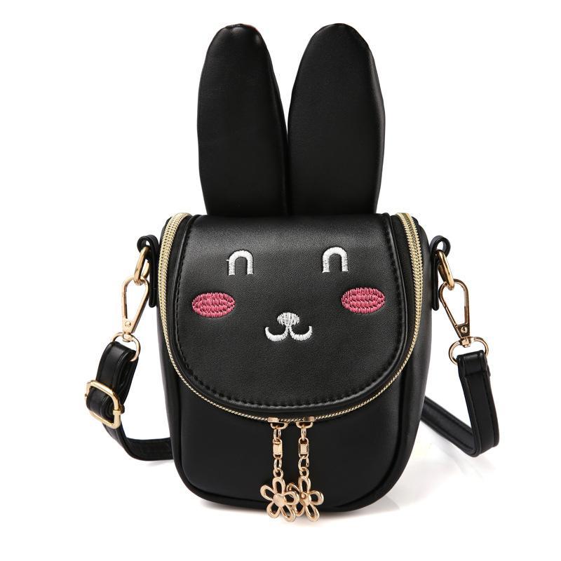 2018 New Long-eared Rabbit Girl Messeger Bag Cute Children s Bag ... d7c1e634496ef