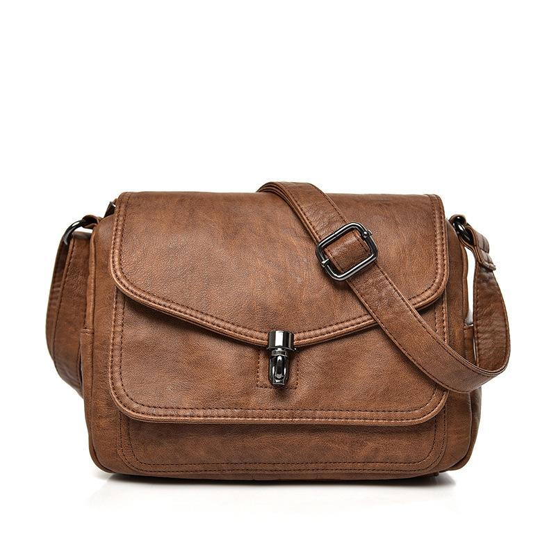 2018 New Women Handbag Brand Luxury Leather Messenger Bag Women S Shoulder  Bag Small Vintage Fashion Ladies Hand Bags Designer Bags Ladies Handbags  From ... 7ac8f7d8152f4