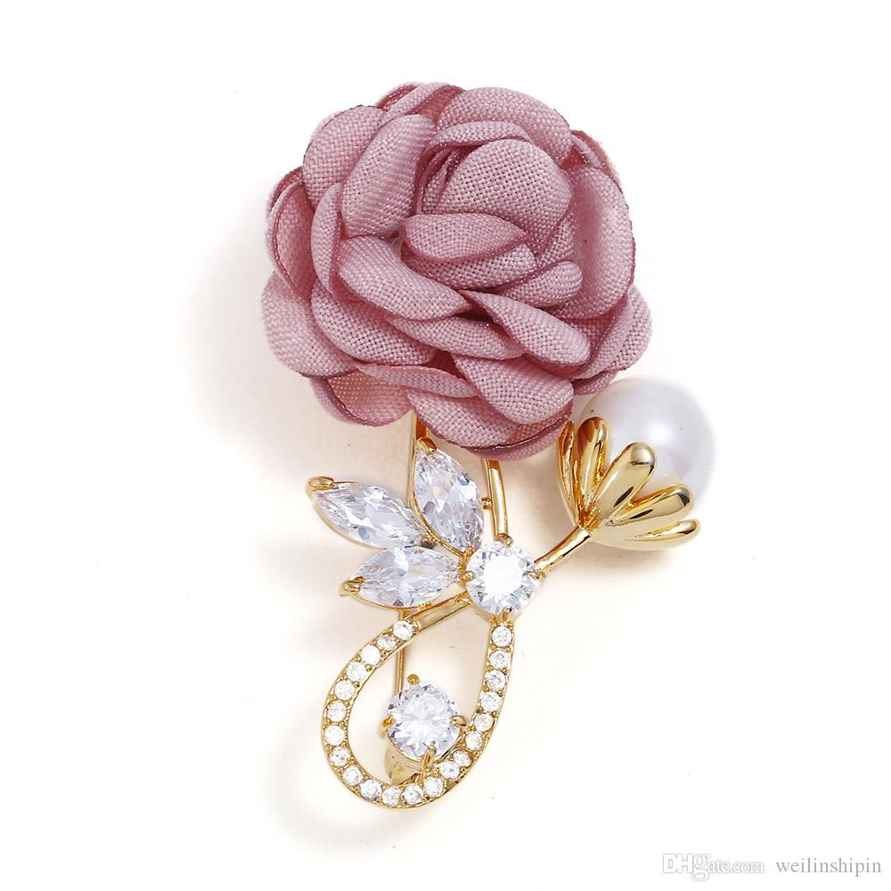 Special flower brooches for wedding flowers clothes Accessories corsage and hairband diy material Full dress Accessories-060