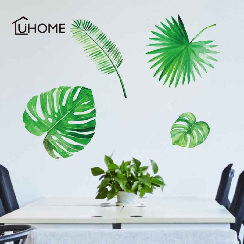Diy Palm Leaves Tropical Tree Leaves Wall Sticker Vinyl Mural Art ...