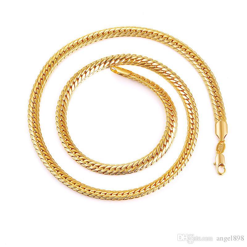 Collana placcata oro in oro 18 carati con bollo