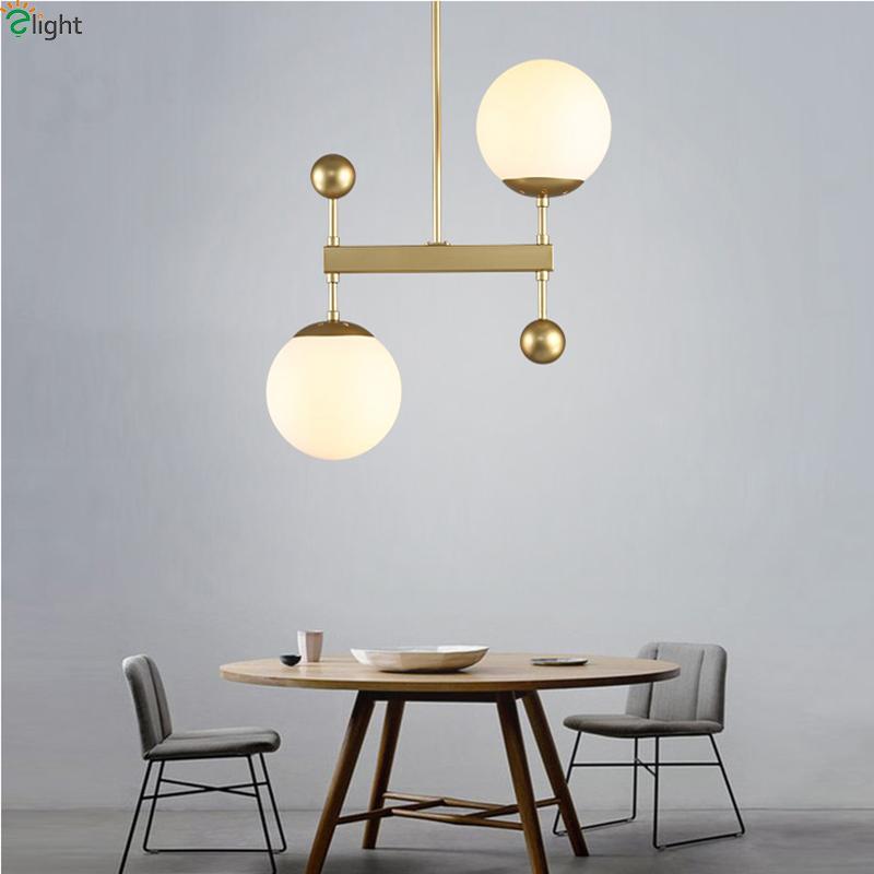Acquista lampadario moderno del pendente del pendente del metallo dell 39 oro moderna sala da - Lampadario sala da pranzo moderna ...