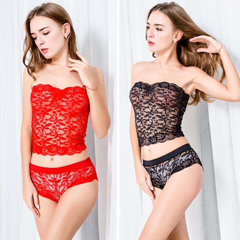 61c87dd7d53 Women s Sleep   Lounge Pajamas sexy women intimates hot top + short sets  intimates lace set nightdress lingerie female underwear