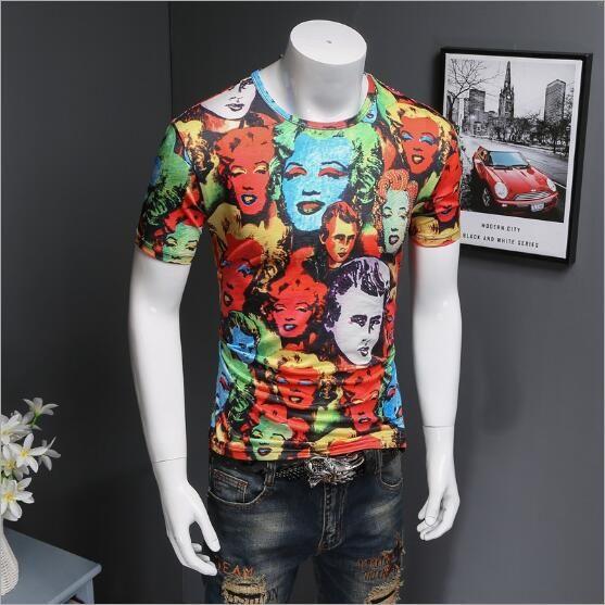 Brand designer -People head printed 3d t shirt men funny t shirts casual mens short sleeve 3d tee shirt summer clothing D30
