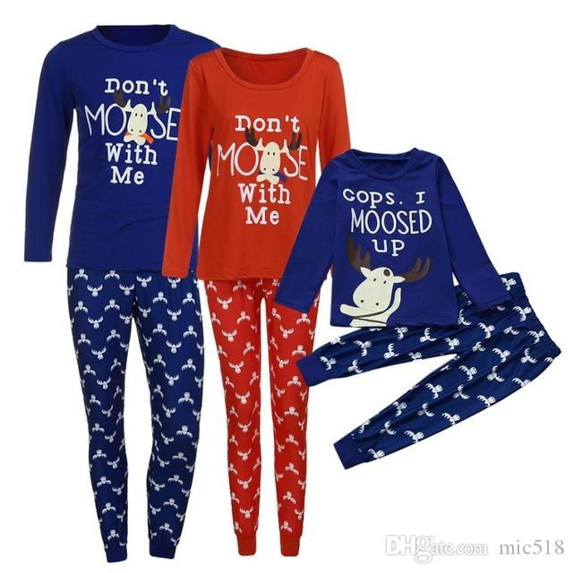2018 matching family christmas pajamas new years products kids baby boy children clothes family matching sweaters matching easter dresses for sisters