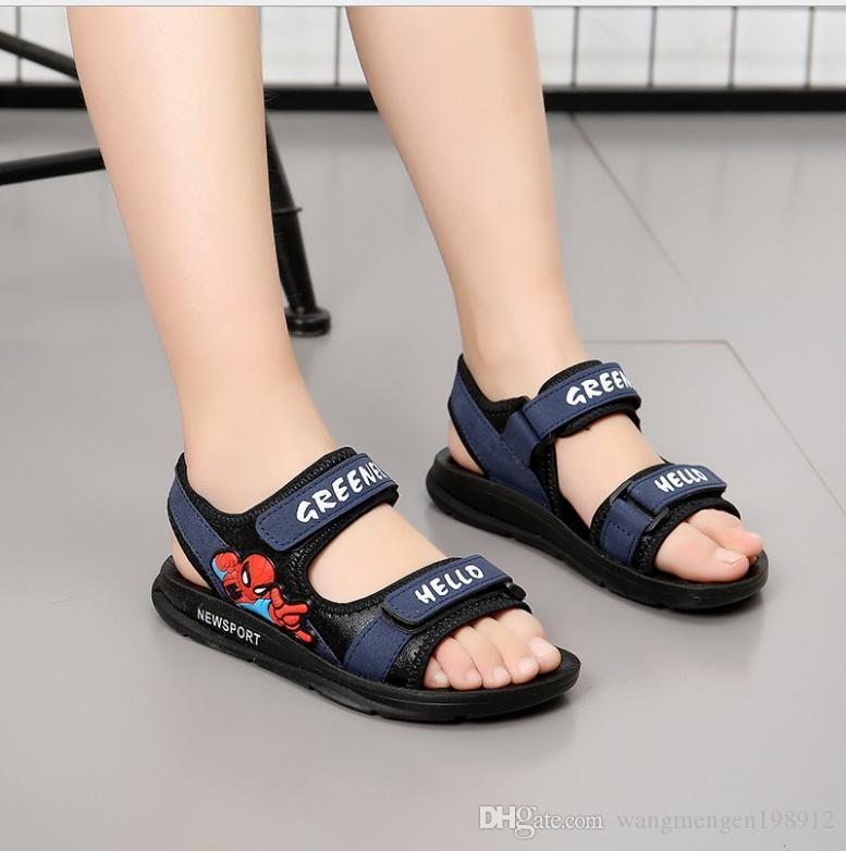 Enfant Enfants Été Spiderman Coréen Garçon Sandales 2018 Plage Soft Nouvel Garçons Chaussures Pour Antidérapant De Bottom K1TcFJl