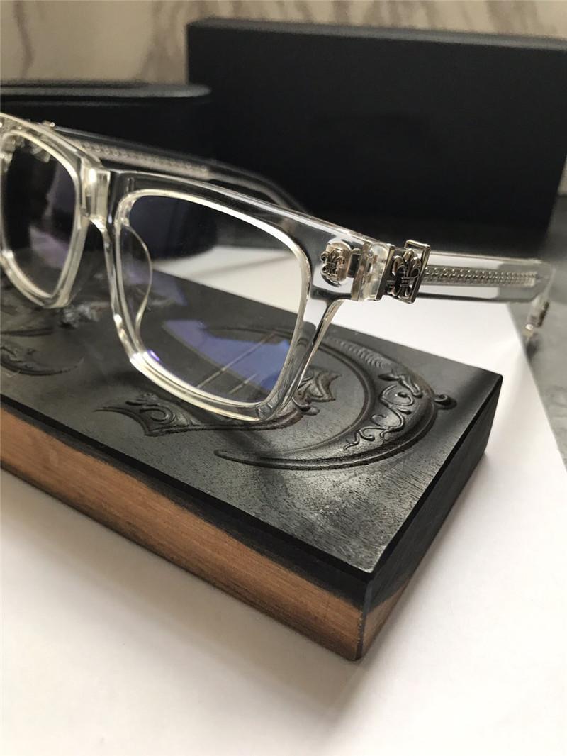 Yeni Vintage Gözlük Tasarım Chr Gözlük Reçete Steampunk Kare Çerçeve Tarzı Erkekler Şeffaf Lens Temizle Koruma Gözlük