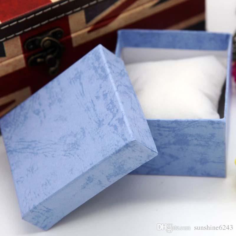 Dayanıklı Sunum Hediye Kutusu Kasa Bilezik Bileklik Takı Bilek İzle Kutuları Için Kağıt Izle Takı Paketi Kutusu