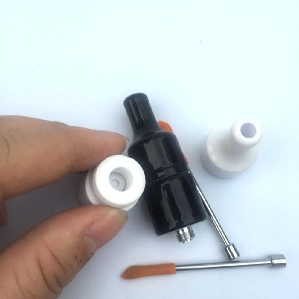 Branco preto cor cerâmica bobina donut cera atomizador com dab ferramenta cerâmica completa 2.5 ml forno De vidro ponta seca erva vaporizador pen tanque