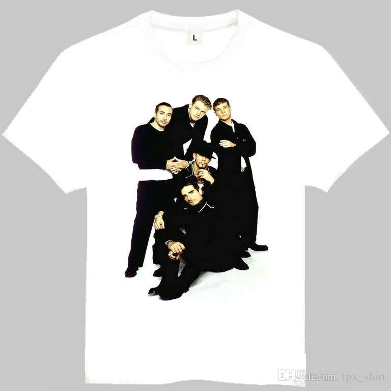 93302df3 Backstreet Boys T Shirt Bsb Short Sleeve Gown Music Band Tees Leisure  Printing Clothing Quality Cotton Tshirt Tee Shirts Design T Shirts Buy  Online From ...