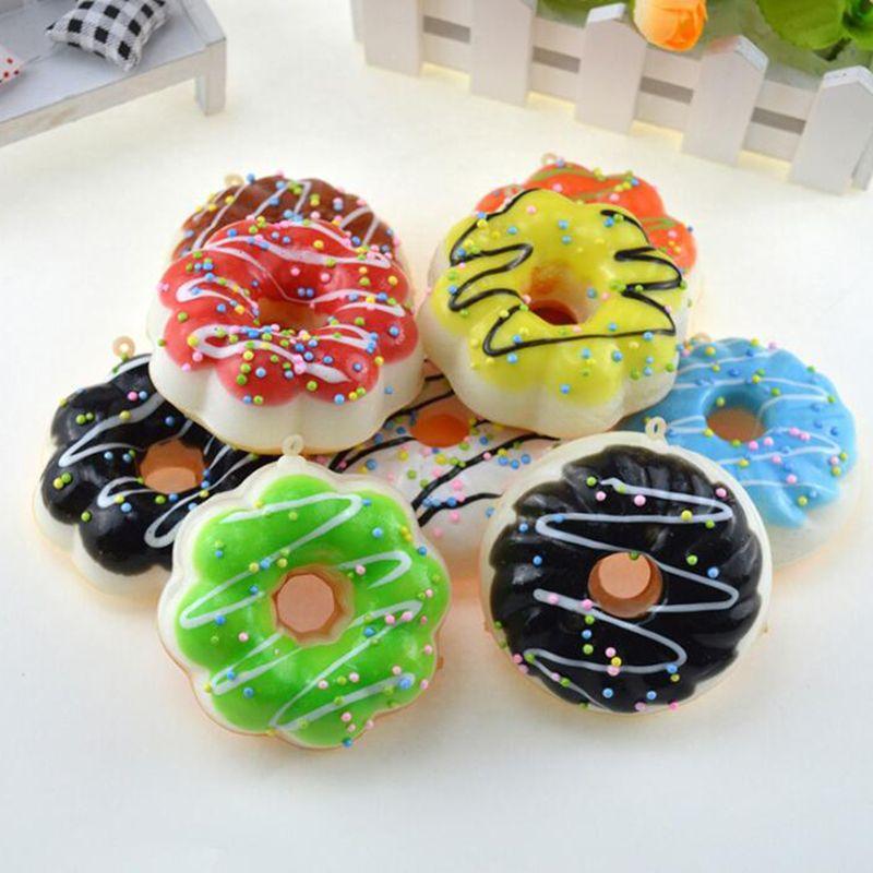 Jumbo Hello Kitty Donut Breloque Croissance Lente Croissance Kawaii Squishies Crème Parfumée Décompression Anxiété Jouet
