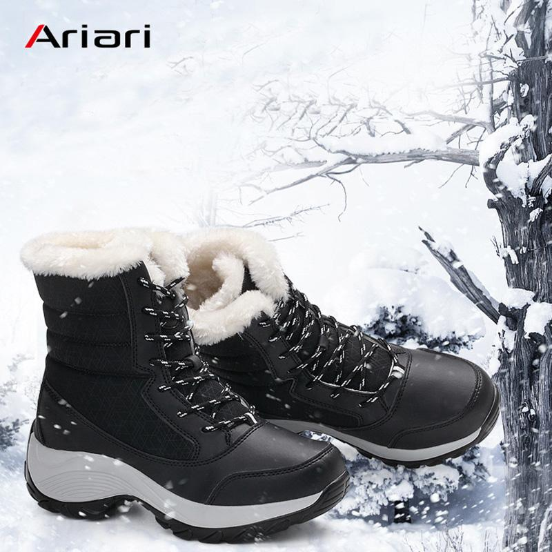 47c9ae14a1e Ariari Women boots non-slip waterproof winter ankle snow boots women  platform winter shoes with thick fur botas mujer