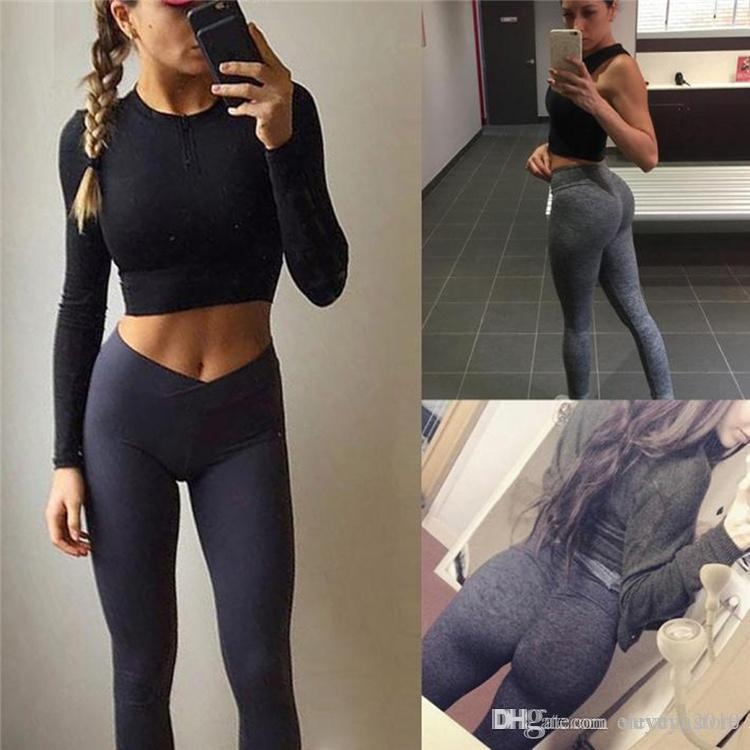 6b48eaeb7 2019 Sex Low Waist Stretched Sports Pants Gym Clothes Spandex Running  Tights Women Sports Leggings Fitness Yoga Pants Trousers YWYS7008 From  Yuyuyu2010, ...
