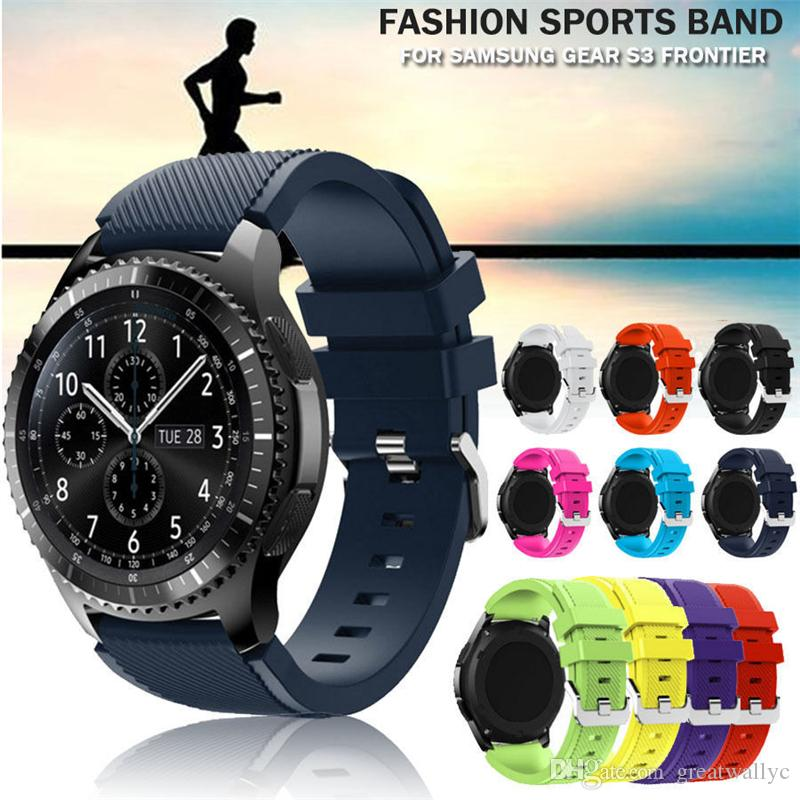 Samsung Gear S3 Silicon Watchband 22cm Watch Sports Bracelet Band Replacement Strap For Gear S3 Frontier Classic Watch Band