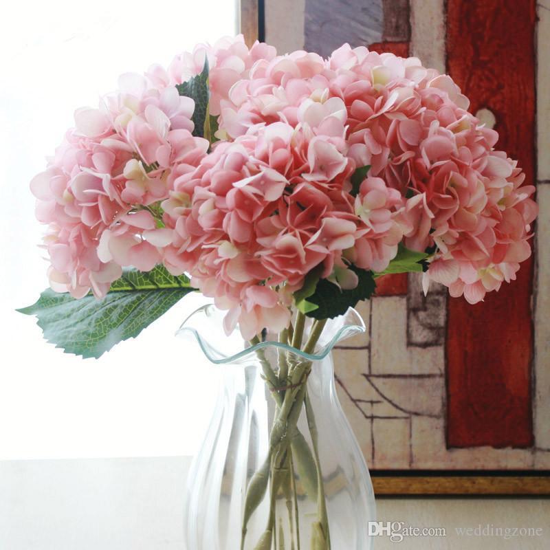 Artificial Silks Hydrangea Simulation Single Branch Silk Hydrangeas For Wedding Centerpieces Home Party Decorative Flowers