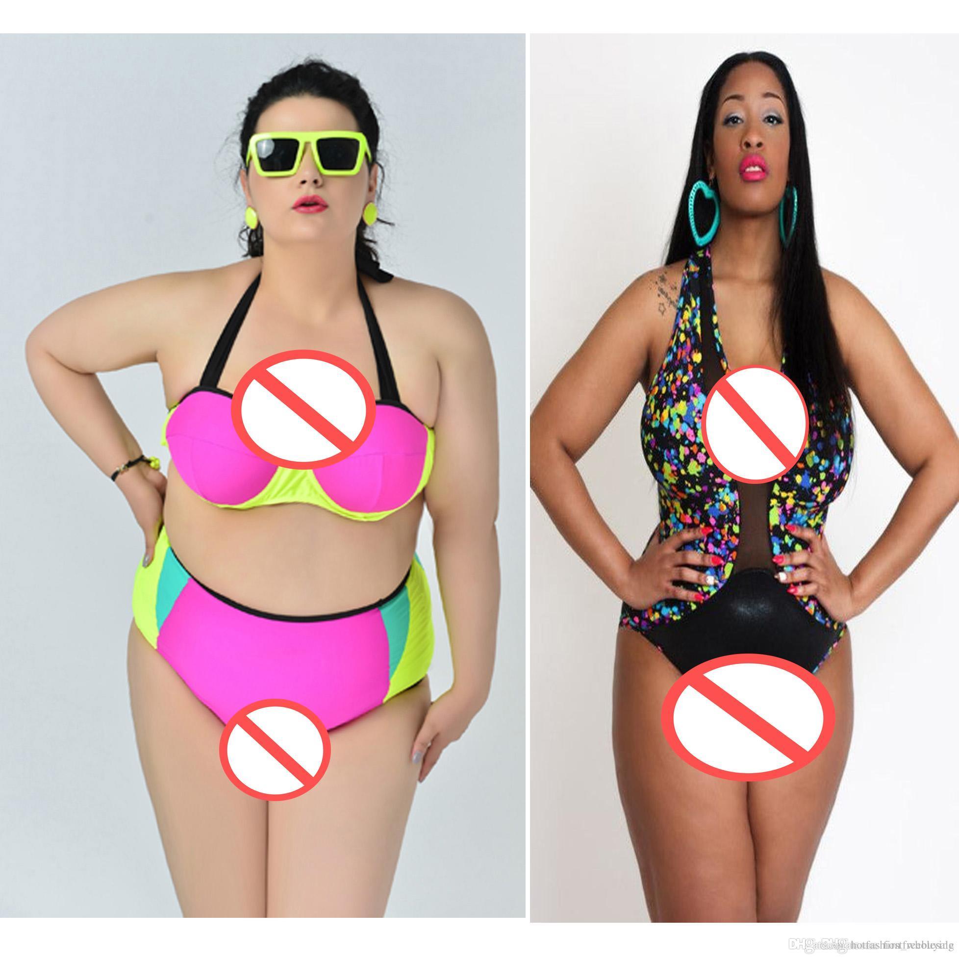 de8355ffa8e74 Großhandel Fat Damen Bikini Set Push Up Top Schwimmen Sexy Bademode Strand  Tragen Badeanzug Badeanzüge Plus Größe Komfortable Ausschnitt Einteiliger  ...