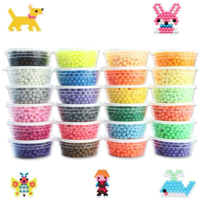 Colored Magic Beads Aquabeads Puzzles Kids Diy Toys Birthday Gift