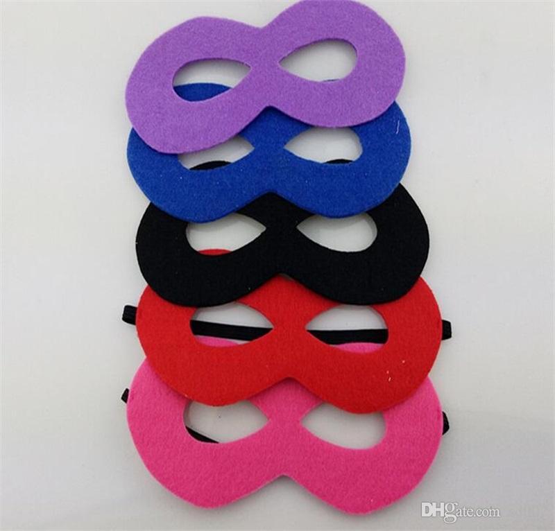 Non tissé enfants masque pour les yeux Halloween bricolage cosplay mascarade Vizard masques pour enfants Costume fête d'anniversaire de Noël décor jouets 0 8dk AA