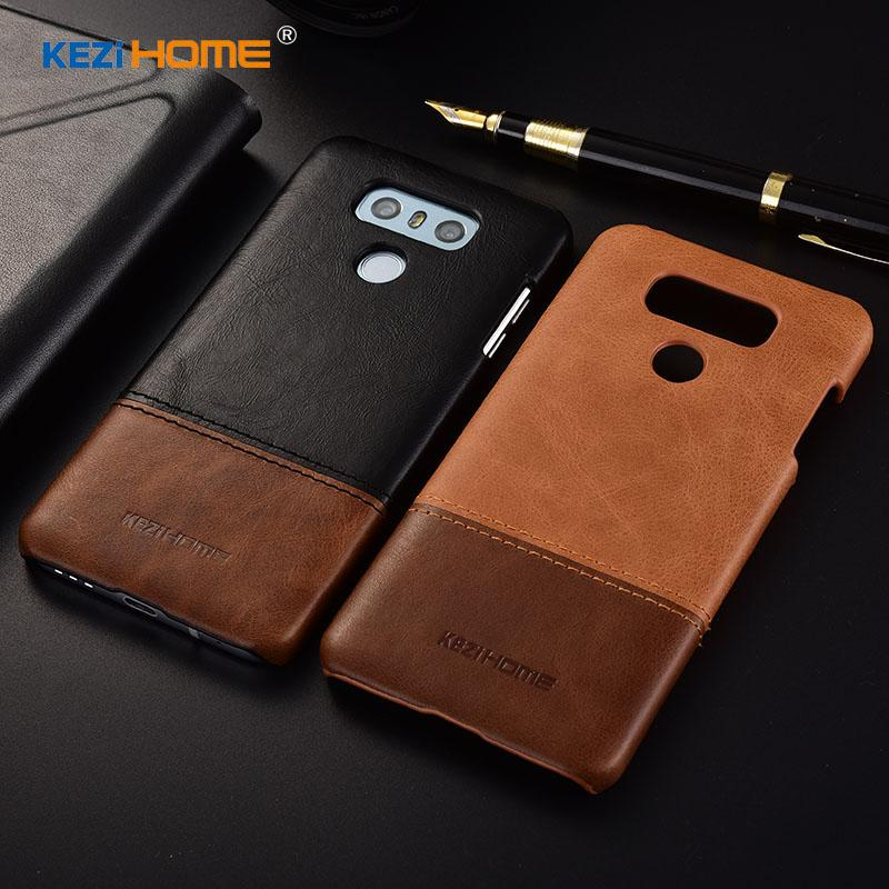 Kezihome For Cell Phone Case LG G6 Cover 5 7'' Genuine leather PC Armor  Case For LG G6 Case H870
