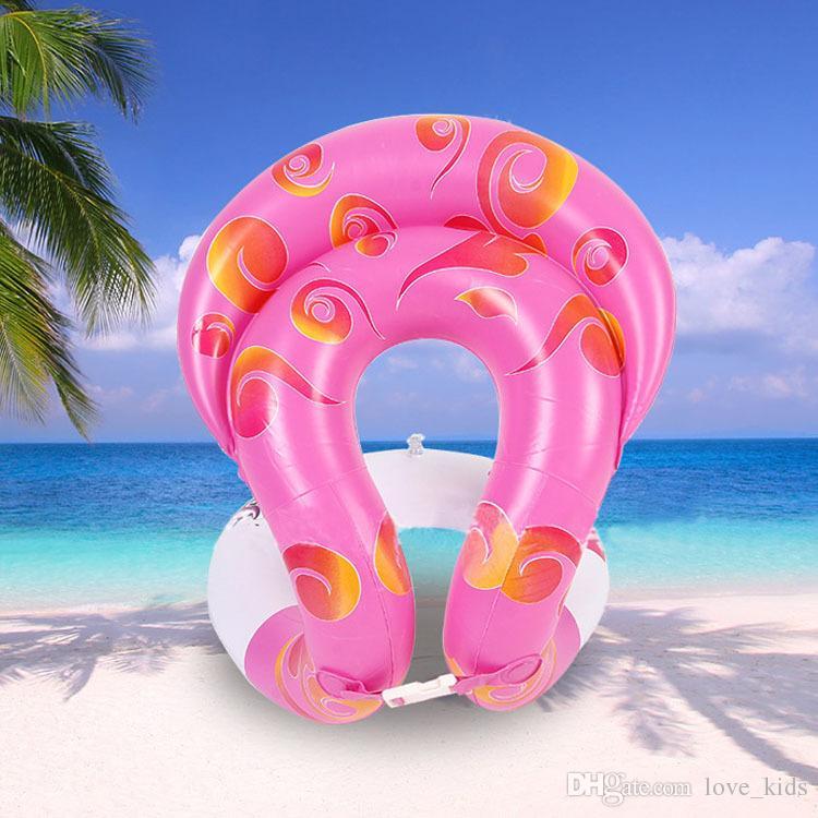 Crianças Dual airbags anel de natação cinto ajustável crianças trainer natação ajuda brinquedos de verão praia mar natação ferramentas safty colete