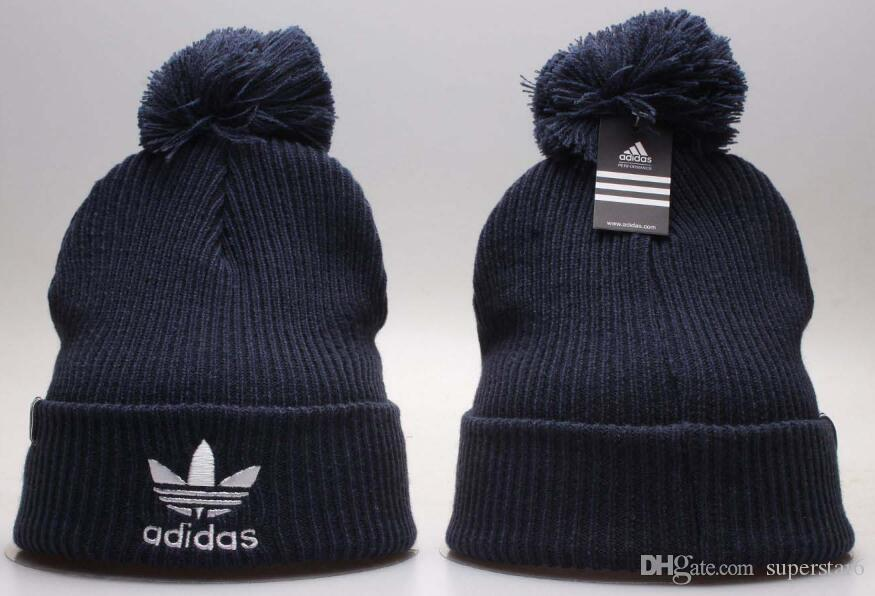 db8548c7c3d Top Selling Luxury Brand AD Beanie Tiger Head Beanies Polo Sideline Cold  Weather Reverse Sport Cuffed Knit Hat With Pom Winer Skull Caps Yellow Bow  Tie ...