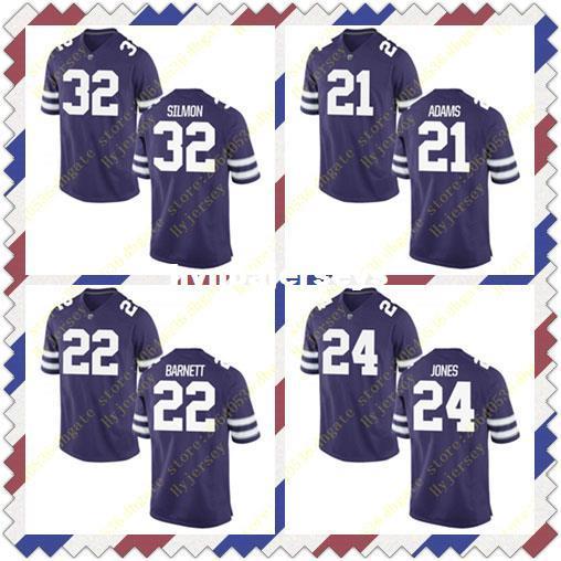 7eb0a46f9 2019 Cheap Mens Kendall Adams Dante Barnett Jersey Charles Jones Justin  Silmon State Wildcats Stitched Purple College Football Jerseys From  Hynbajerseys