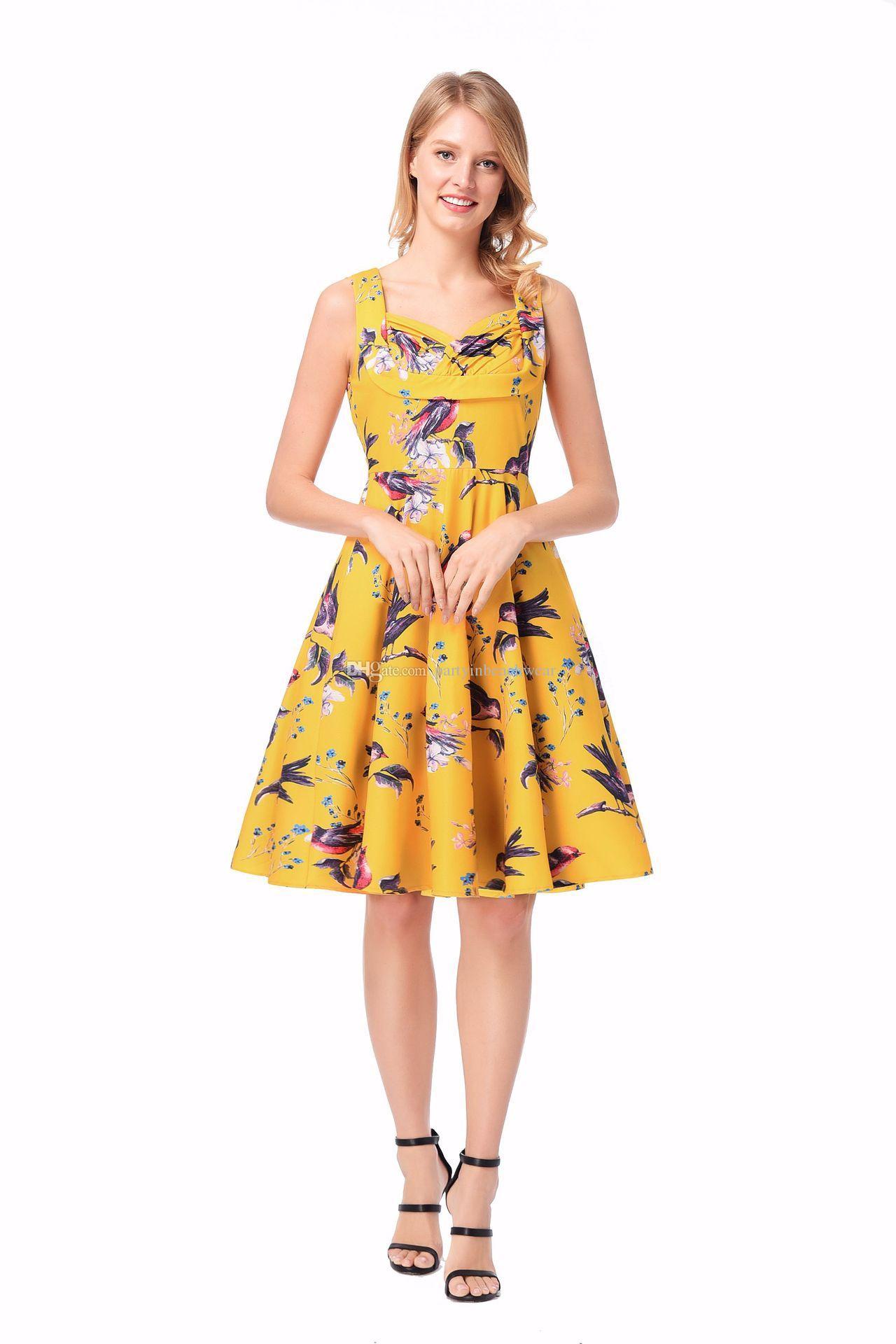 83066bdc10 Women Summer Party Dress Floral Print Single Breasted Lapel POLO Collar Evening  Dress Sleeveless High Waist A Line S 2XL Plus Size Womens Sundresses Womens  ...