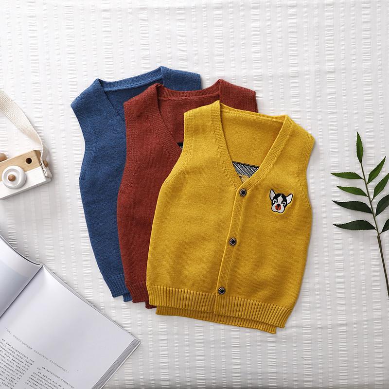 9f743896f8 Autumn 2018 New Pattern Vest Knitting Sweater Men And Women Children Korean  Cardigan Puppy Vest Generation Hair Boys Black Waistcoat Age 10 Boys  Trousers ...