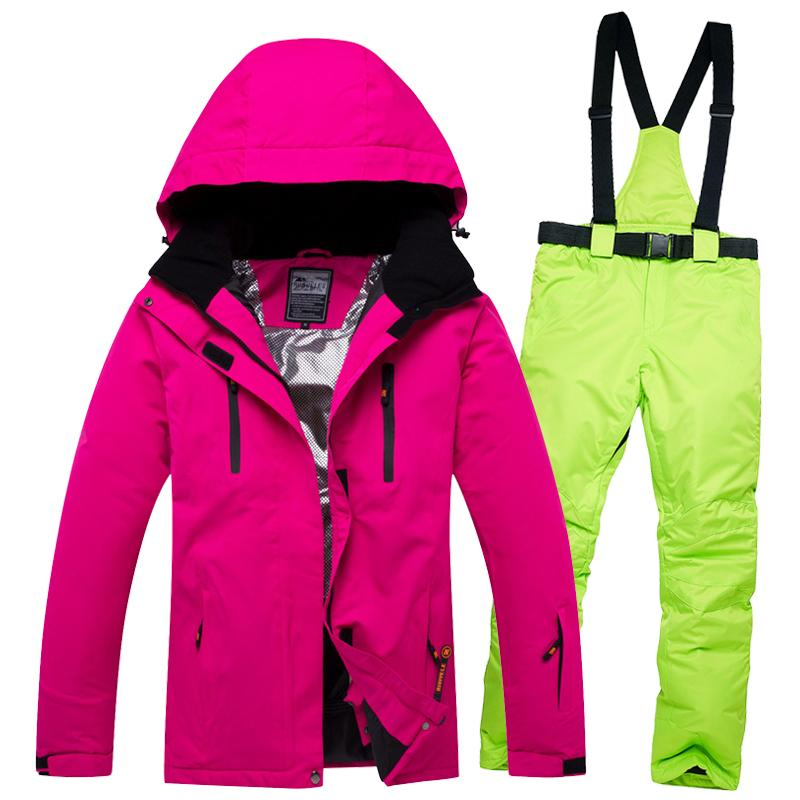 a282ab2806 2019 SUPER SALE!! Women S Ski Suit Waterproof Windproof Female Snow Jacket  And Pant Sets Cotton Padded Winter Walk Snowboard Clothes From Shanquanwat