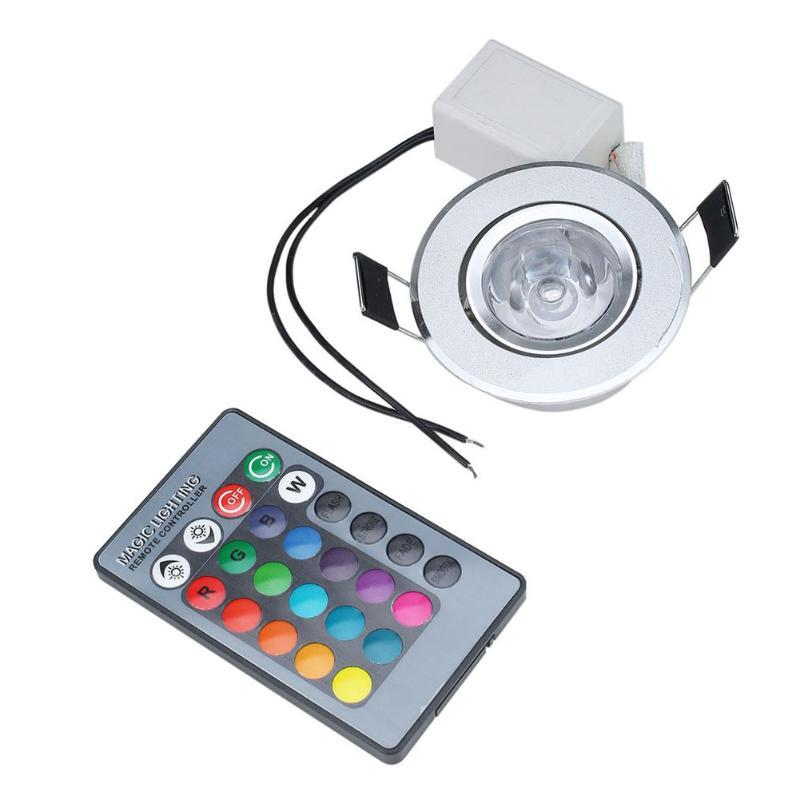 AC 85 265V Changing 3W RGB LED Spot Light Spotlight Ceiling Light