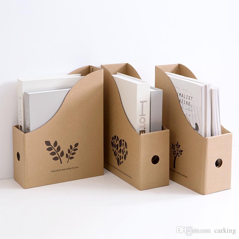 Book File Folder Desktop Storage Box Paper Bookshelf Desk Office Student Stand Sorting Shelf