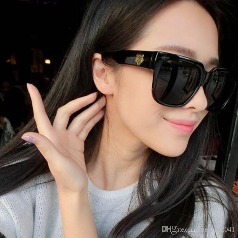 Негабаритные солнцезащитные очки Rectangle Gold Tiger Cool Модные солнцезащитные очки для женщин и мужчин 4 цвета Дешевые оптовые очки