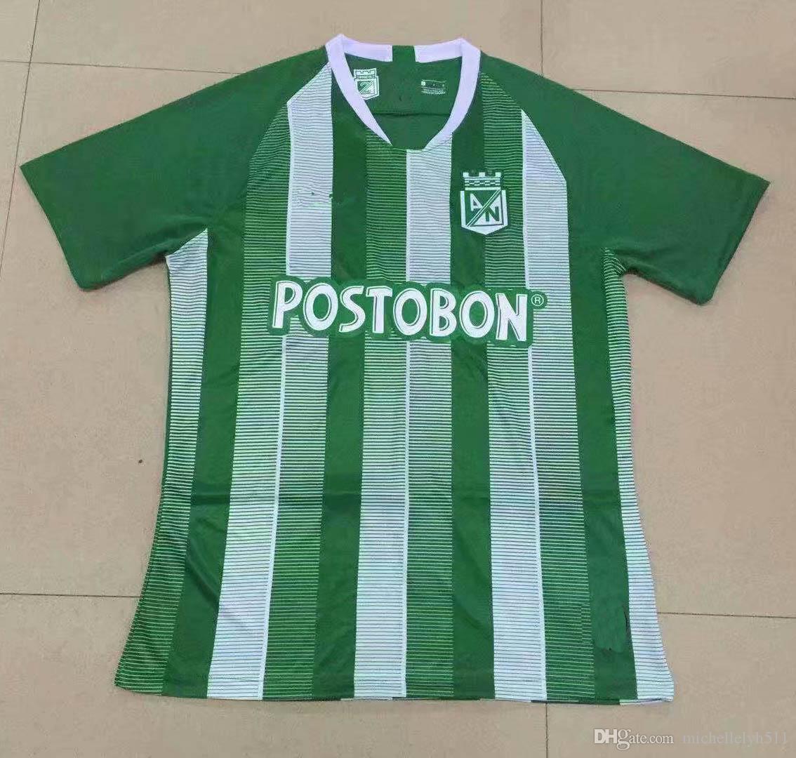 19 20 Camisetas De Fútbol De Atlético Nacional 2019 2020 Medellin Inicio  Camisetas De Fútbol Verdes MORENO TORRES RENTERIA LUCUMI Jersey Footabll  Por ... 759fa94a0a59f