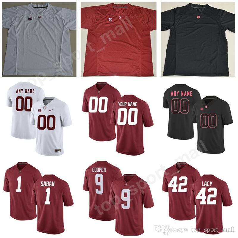 new style cfca5 daded Alabama Crimson Tide College Football 9 Amari Cooper Jersey 1 Nick Saban 14  Jake Coker 19 Reggie Ragland Custom Any Name Number Men Youth