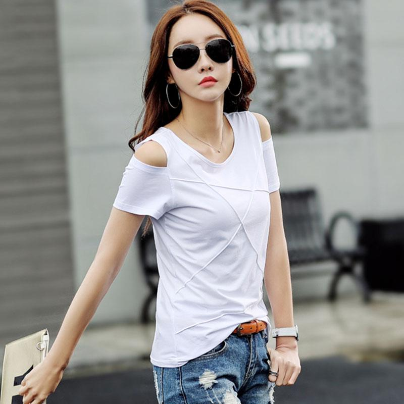 056e97d32a88a Plus Size T Shirt Women Tops Tee Shirt Femme Camisetas Mujer Off Shoulder  Tshirt Women T Shirt Summer T Shirts Online Funky T Shirts Buy T Shirt  Design From ...