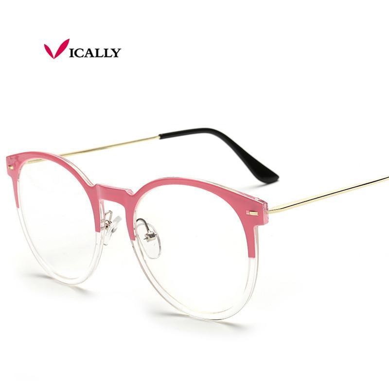 b2843a407688 2019 Fashion Eyeglasses Frame With Clean Lens Brand Designer Frames Solid  Frame Women Eyeglasses Frames Oculos De Grau Eyewear From Nasturtium, ...