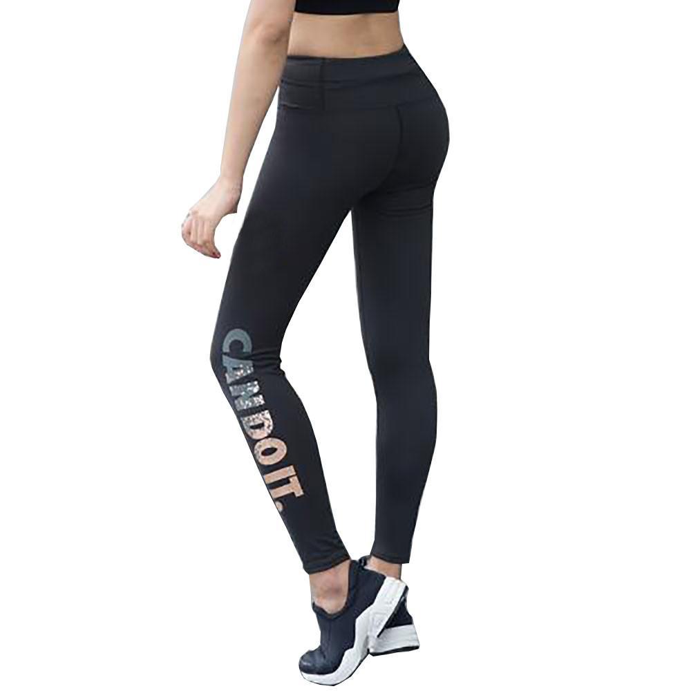 7c4050c01 Chaud Maigre Leggings Pour Femmes Lettres Imprimer Stretch Sport Yoga  Pantalon D hiver Dames Taille Haute Sexy Serré Leggins Pantalon # YL1