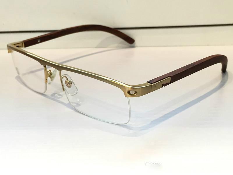 f5f751f9357 4581369 Medusa Glasses Prescription Eyewear Vintage Frame Wooden Men Brand Designer  Eyeglasses With Original Case Retro Design Gold Plated Mens Eyeglasses ...