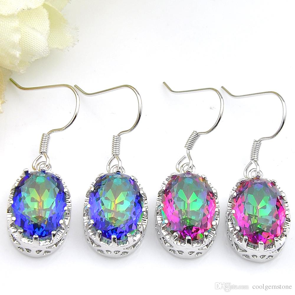 599b3aee2 2019 Luckyshine Classic Fire Mystic Topaz Gems 925 Sterling Silver Plated Drop  Earrings Russia Canada Drop Earrings Jewelry From Coolgemstone, ...
