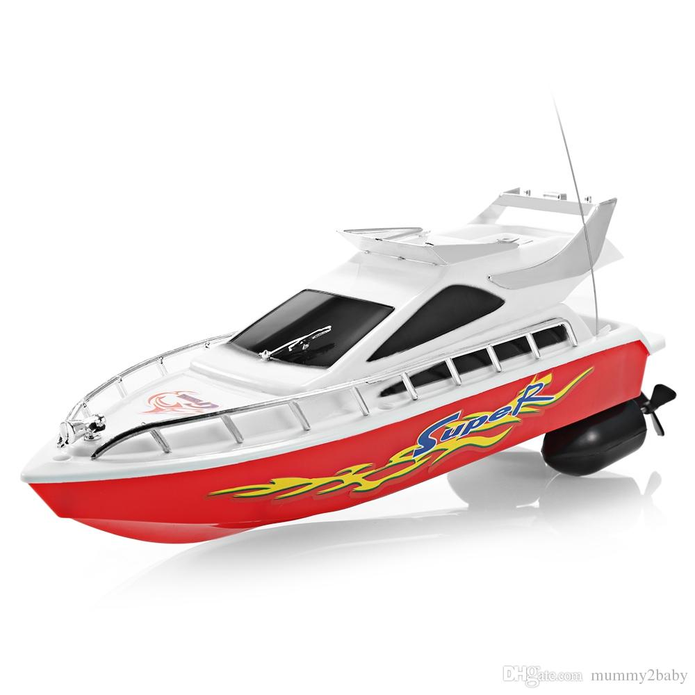 Rosi High Speed Rc Boat Mini 35hz 4 Channels Remote Control Racing ...