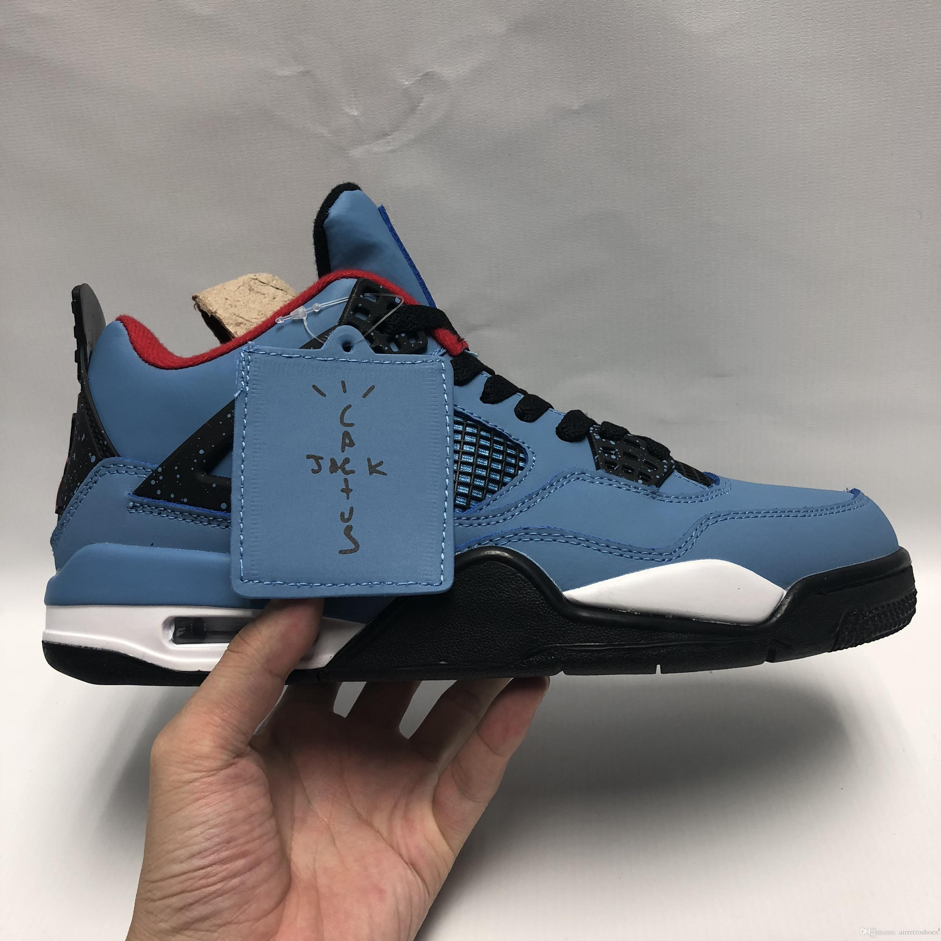 New Travis X 4 4s IV Mens Basketball Shoes Hot Houston University ... 20bf03509