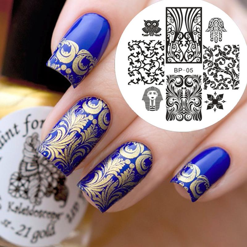 2018 Plate Oven Born Pretty Egypt Style Nail Art Stamp Template