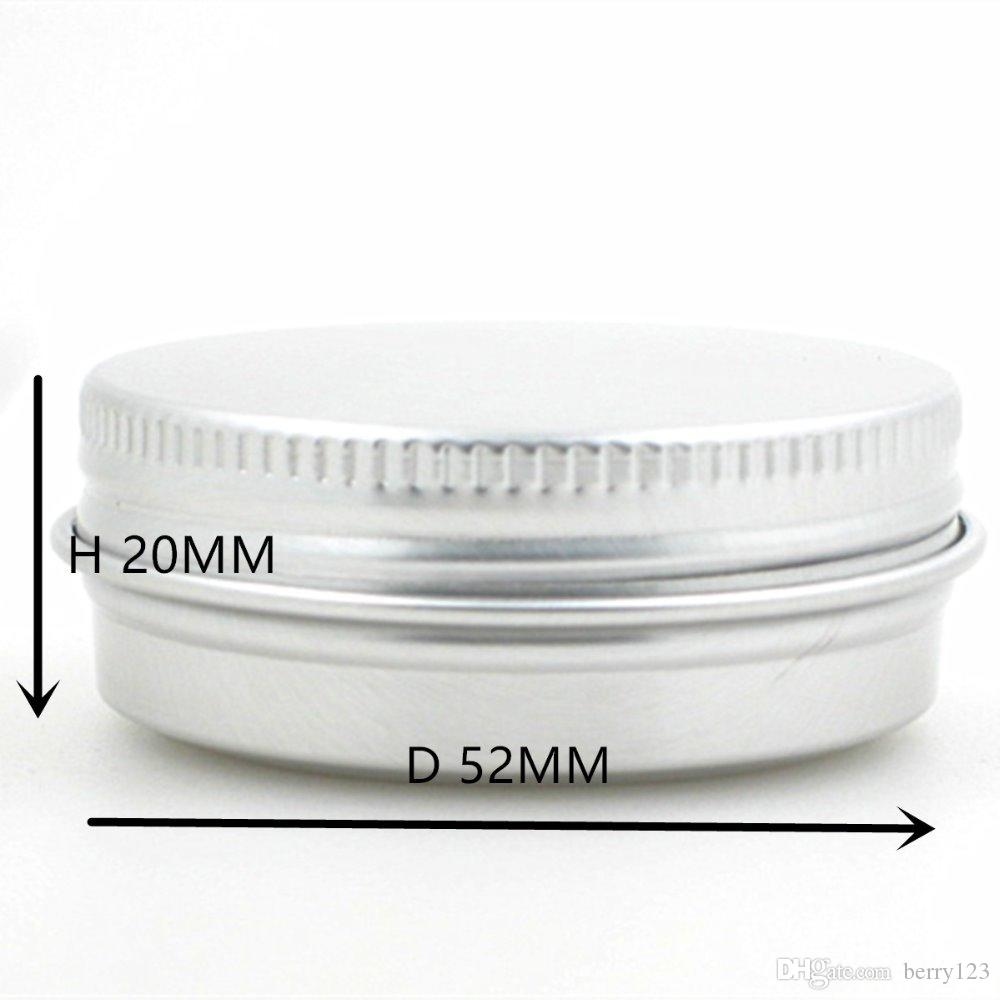 4f4c478b8d6e 30G 50G 60G Aluminum Jars Empty Cosmetic Makeup Cream Lip Balm Gloss Metal  Aluminum Tin Containers
