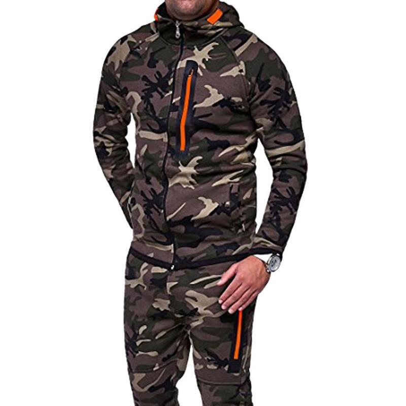 bad2e0d91cf 2019 2018 New Zipper Camouflage Running Jacket Men Plus Size Camo Hooded  Coats Army Jacket Men Outdoor Workout Sport Coat From Mtaiyang