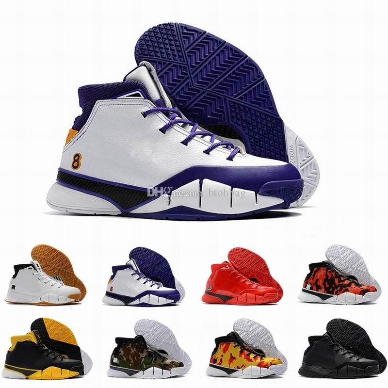 0b05073574e2 Zoom Kobe 1 Protro Basketball Shoes KB 1 Goden Classic Sports Sneakers ZK1  Trainers Top Quality Size 40 46 With Box Shoes Sale Sneakers Shoes From  Btobbag