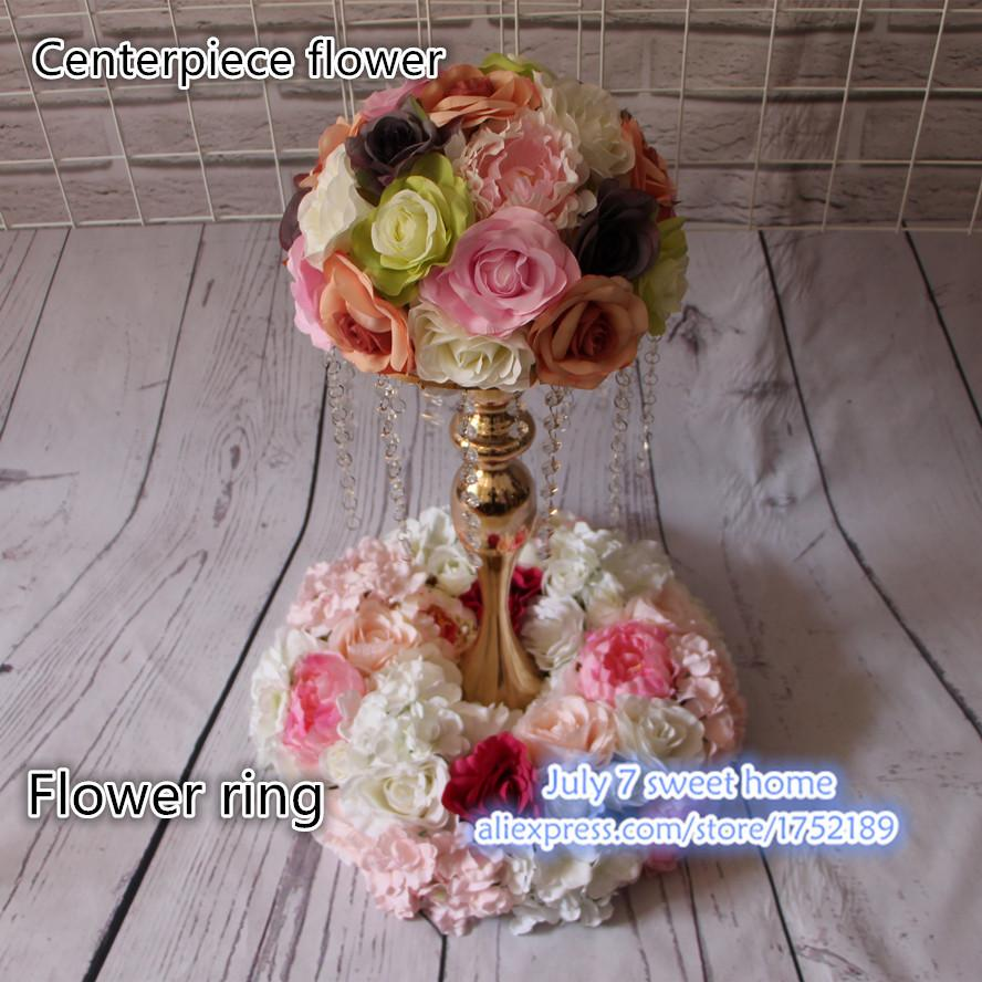Online cheap wedding table centerpiece flower wreath wedding road online cheap wedding table centerpiece flower wreath wedding road lead artificial flowers ring decorative wreath by wenglianbo dhgate izmirmasajfo