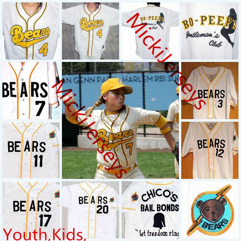 17b21c6328c 2019 Kids Custom The Bad News BEARS Jerseys Youth #3 Kelly Leak #12 Tanner  Boyle #4 #7 #13 #17 #20 The Bad News BEARS Movie Baseball Jersey S From  Xt23518, ...