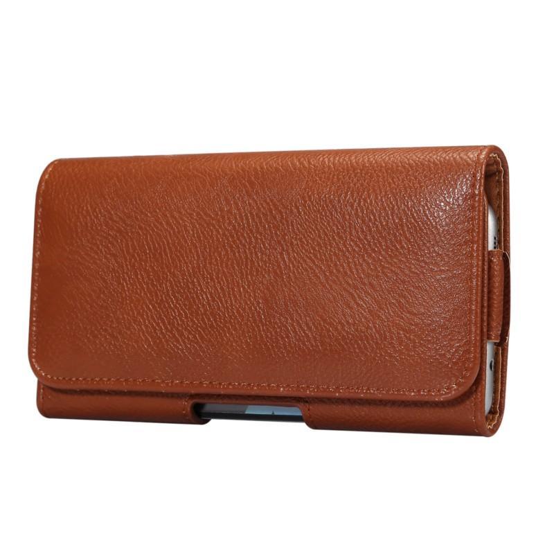 Clip de ceinture universel en cuir PU Holder Case Flip Pouch pour Wiko View 2 Plus / 2 Go / Max / 2 Pro / 2